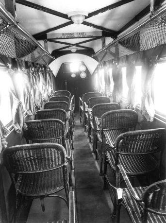 L'interno dell'aeroplano della Imperial Airlines nel 1936