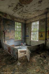 Ospedale psichiatrico West Park, Inghilterra. Costruito negli anni '20