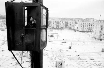 Piergiorgio Branzi - Gru nei nuovi quartieri (dalla serie 'Mosca 1962 - 1966')
