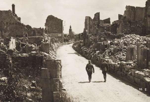 Rovine di Verdun, Francia 1915. Prima guerra mondiale