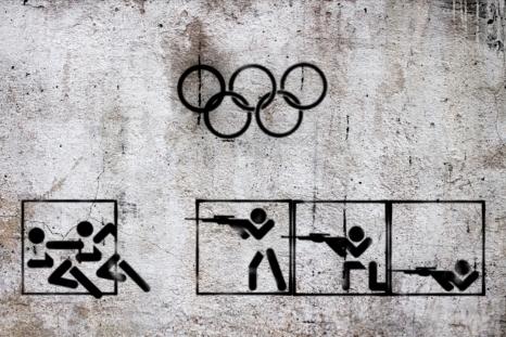 """""""Syrian Olympic, 2013"""" by Syrian artist Tammam Azzam"""