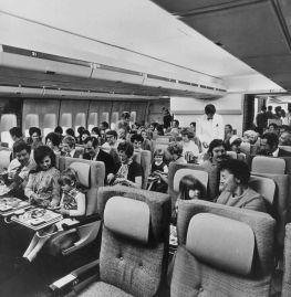 Volo in classe economica nel 1970