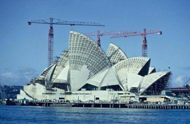 Costruzione della Sydney Opera House, 1966