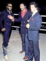 Foto iconica scattata sul set di Rocky III, 1982