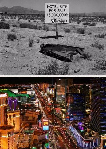 Las Vegas nel 1940 e nel 2017