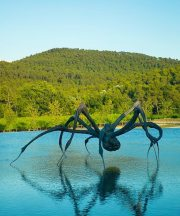 Maman Spider by Louise Bourgeois in Château La Coste. Photography by Patrick Gardin