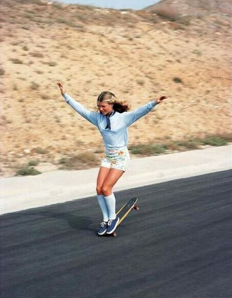 Una skateboarder, 1976