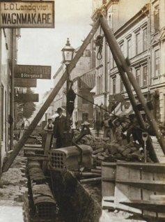 Cavi telefonici a Big Way, Stoccolma, 1890