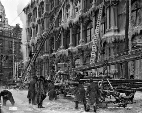 Dopo un incendio, Thomas May's Building, Montreal, 1901