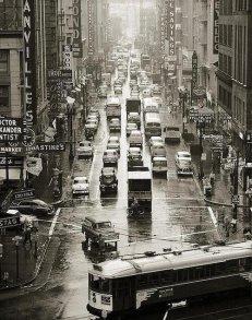 Giornata piovosa a San Francisco, 1957