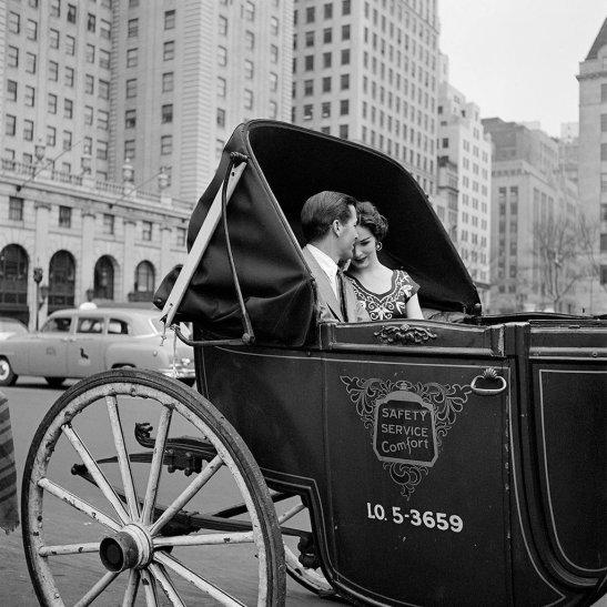 Giro in carrozza, New York, 1953