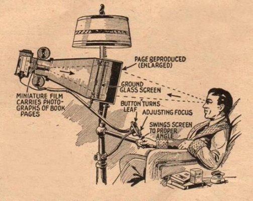 """""""Il lettore di libri del futuro"""", 1935"""