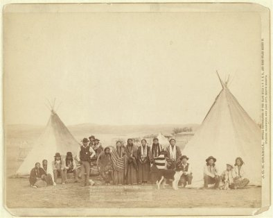 Indiani Miniconjou, South Dakota, 1890