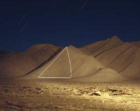 """Jim Sanborn: Cainville, Utah — From the """"The Topographic Projections and Implied Geometries"""" series (1995)"""