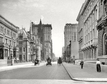 Le strade di New York City, 1908