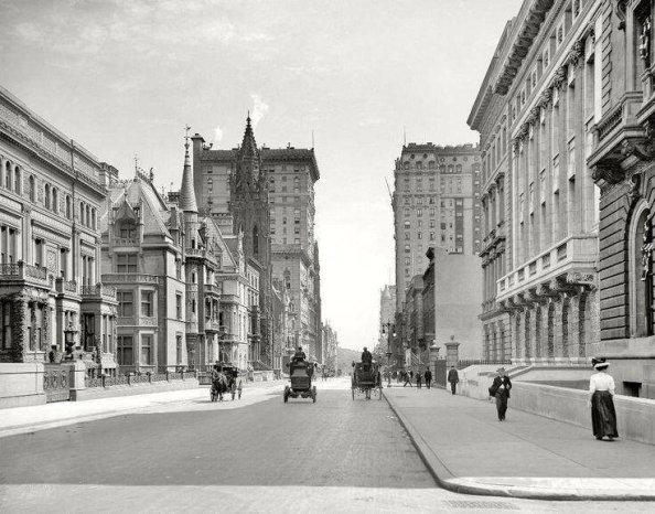 Le strade di New York City, 1908