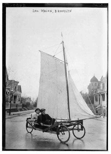 Sail Wagon. Brooklyn, 1910