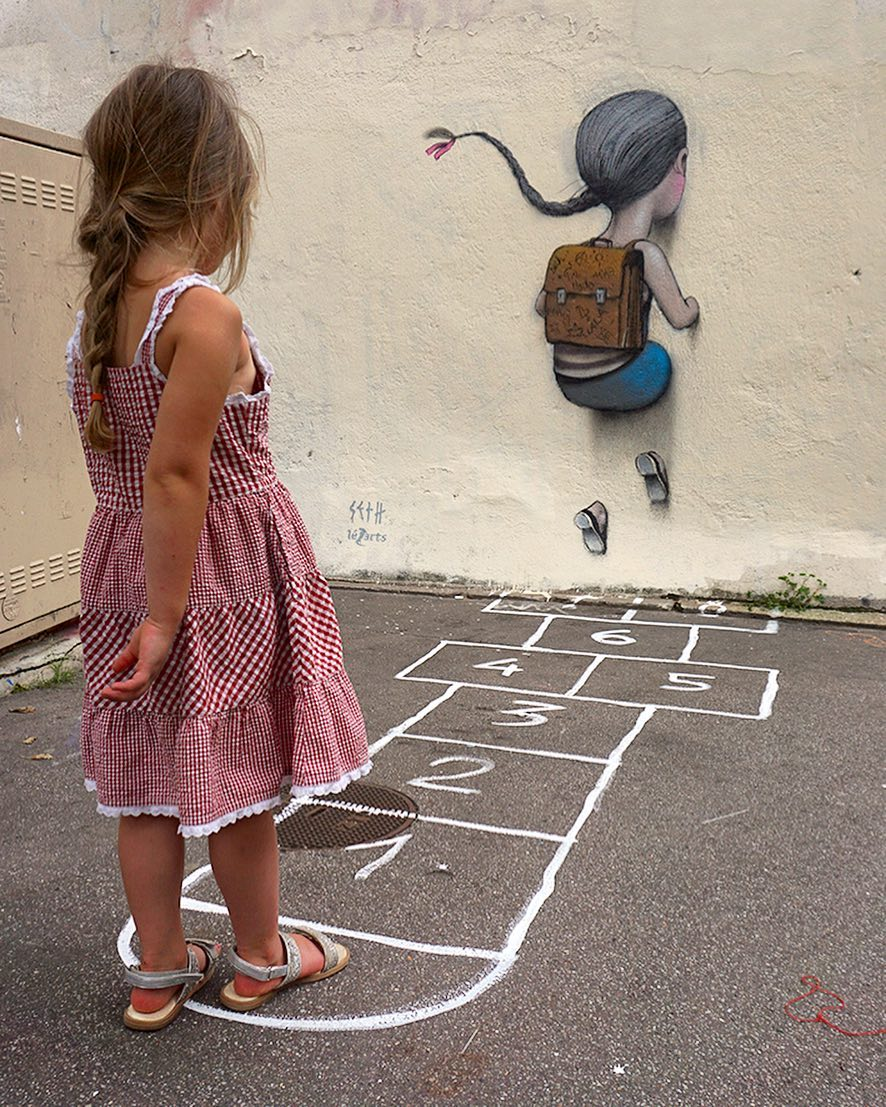 Seth Globepainter - Viviane hesitate, La Butte aux cailles, Paris