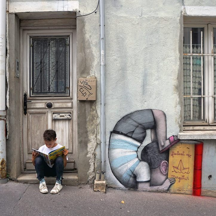 Seth Globepainter - Jaho on his doorstep, Butte aux cailles, Paris