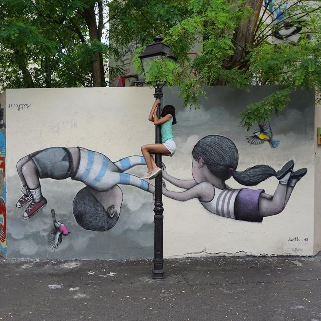 Seth Globepainter - Lala can fly too, Butte aux cailles, Paris