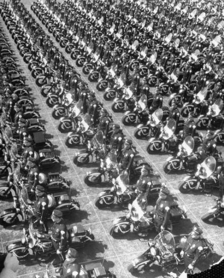 The Los Angeles Motorcycle Police Force, 1949