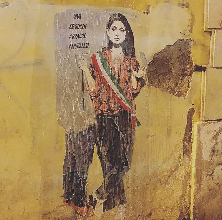 Virginia Raggi by Tvboy @ Rome, Italy