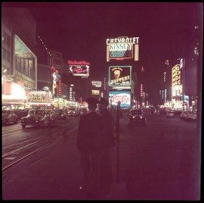 Un raro negativo rivela Times Square NYC a colori, 1948
