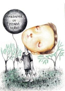19- Immaginare un mondo nuovo- Laura Saddi, Disegna per un disegno, Sant'Arte 2018