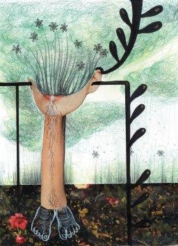 44- (I sogni decantano e poi esplodono) e mettono radici- Laura Saddi, Disegna per un disegno, Sant'Arte 2018