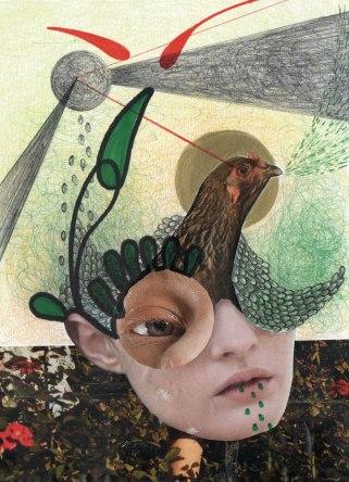 85- Siamo vecchie galline, spargiamo i semi dell'invidia- Laura Saddi, Disegna per un disegno, Sant'Arte 2018