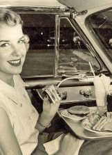 Cena al cinema drive-in, 1952