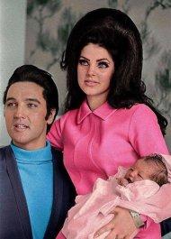 Elvis Presley, Priscilla Presley e Lisa Marie, 1968