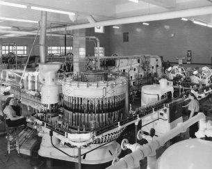 Fabbrica Pepsi a Baltimora, MD, USA. 1956