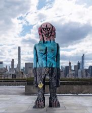 """""""We Come in Peace"""" by Huma Bhabha"""