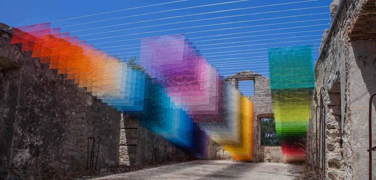 Installation in Old Stone House, Kagkatika for Paxos Contemporary Art Project (2018), all images courtesy of Quintessenz
