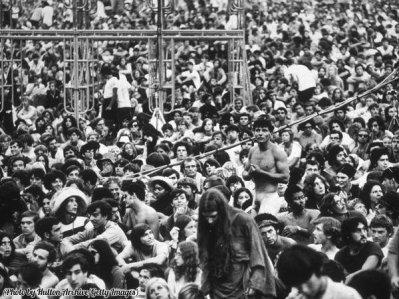 La folla a Woodstock, 1969