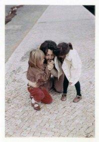 Paul McCartney con Heather e Mary, anni '70