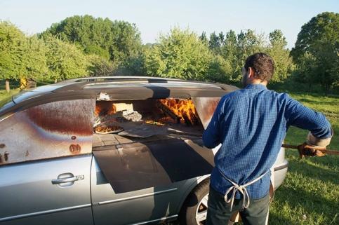 Auto forno a legna