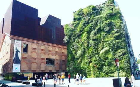 Madrid day-by-day - Caixa Forum by Herzod & De Meuron + vertical garden by Patrick Blanc