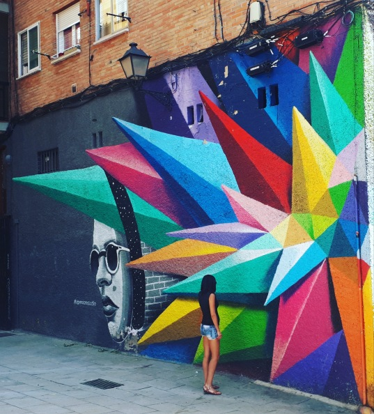 Street art: Okudart @ Calle de Embajadores, Madrid