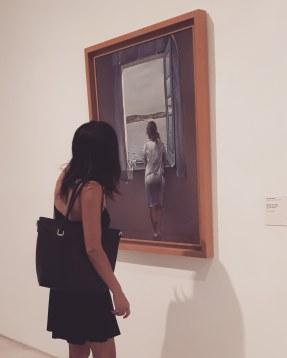 Museo Reina Sofia - Collezione permanente - Girl at the window (1925) di Salvador Dalì