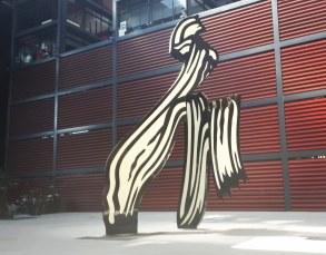 Museo Reina Sofia - Brushstroke (1996) di Roy Lichtenstein