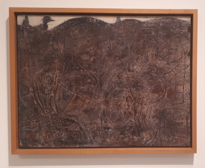 Museo Reina Sofia - Collezione permanente - Dialogue with birds (1949) di Jean Dubuffet