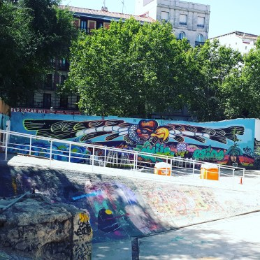 Street art in Campo de Cebada, Madrid