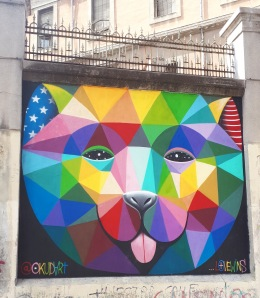 Street art: Okudart @ Lavapies, Madrid for Muros Tabacalera