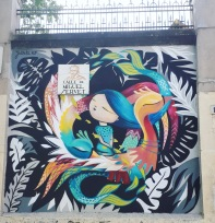 Street art: Julieta XLF @ Lavapies, Madrid for Muros Tabacalera