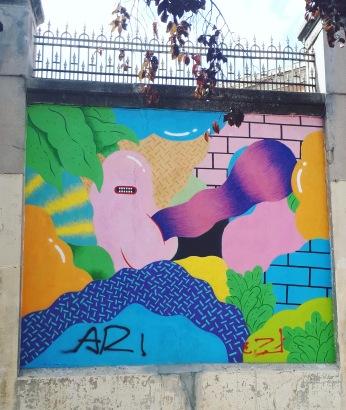 Street art: Grip Face @ Lavapies, Madrid for Muros Tabacalera