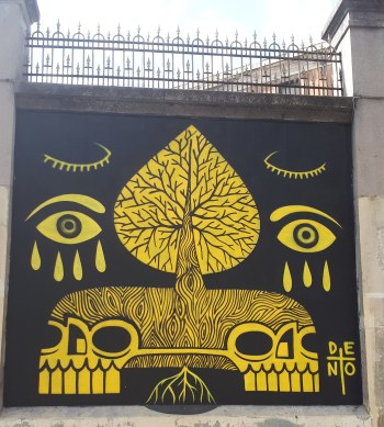 Street art: Deno @ Lavapies, Madrid for Muros Tabacalera
