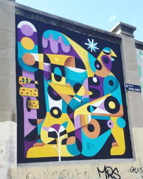 Street art: Ruben Sanchez @ Lavapies, Madrid for Muros Tabacalera