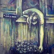 Street art: Alice Pasquini @ Lavapies, Madrid for Muros Tabacalera